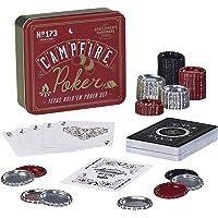 Gentlemen's Hardware Campfire Texas Hold'em - Juego de póquer de Viaje con Tapa para Botella