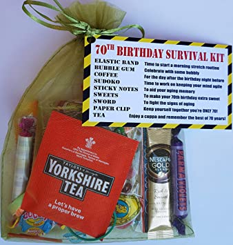 70th Birthday Survival KIT Gift Present Give Them A Fun Cheeky That Will Make
