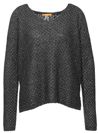 3b3cea772655ed BOSS Orange Relaxed-Fit Pullover WARLY aus Strukturiertem Material-Mix mit  Viskose Wolle und Alpaka Farbe Grau 013: Amazon.de: Bekleidung