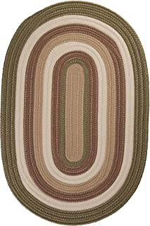 product image for Colonial Mills Brooklyn Polypropylene Braided Rug, 4-Feet by 6-Feet, Moss
