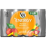 V8 Energy, Juice Drink with Green Tea, Peach Mango, 8 oz. Can, 12 Count