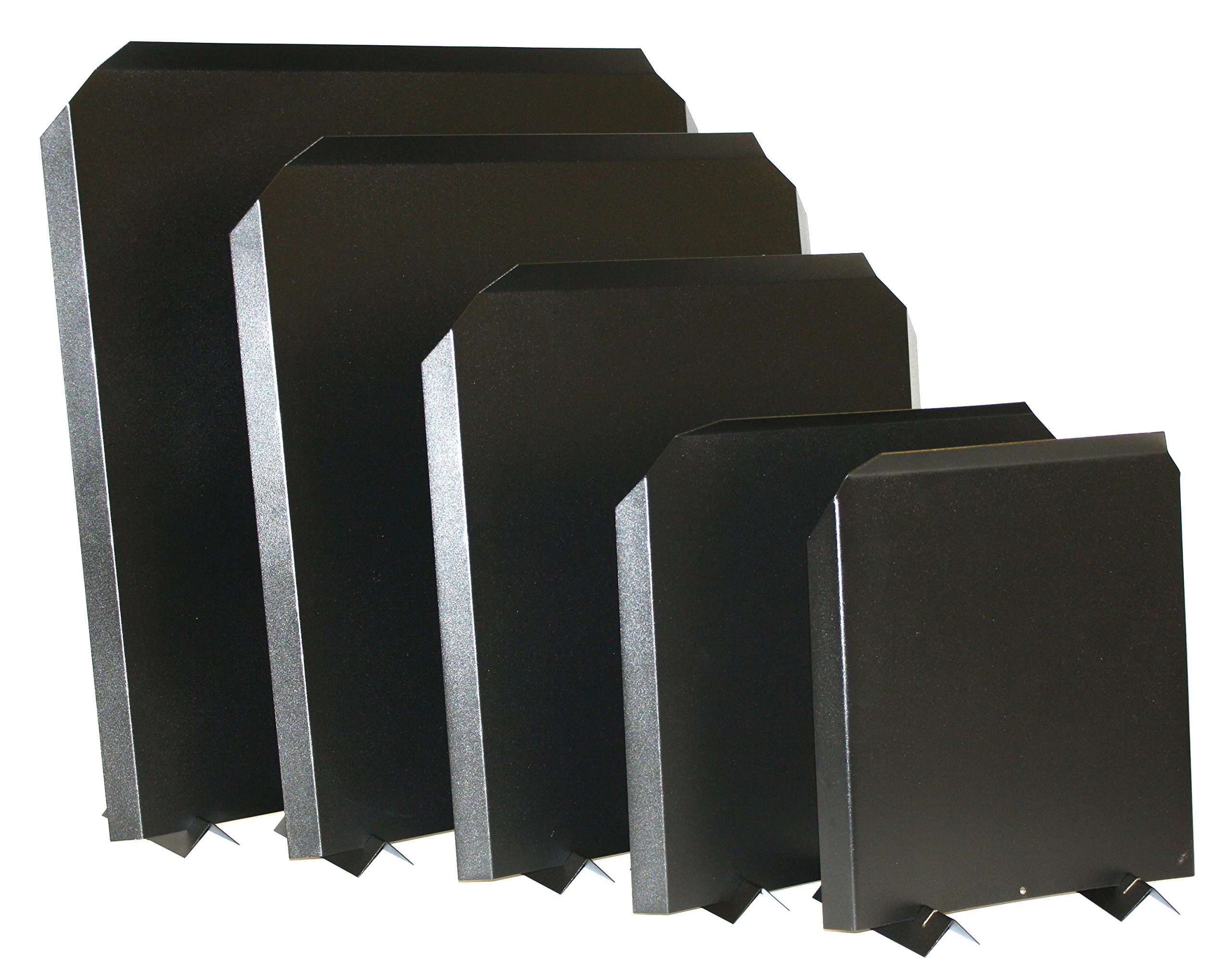 Stainless Steel Firebacks, Painted Black - 20'' x 20'' by HY-C Company