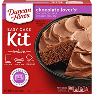 Duncan Hines Easy Cake Kit Chocolate Lover's Cake Mix, 8.4 OZ