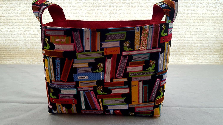Storage and Organization - Reading Books - Book Worms - Fabric Organizer Bin Storage Container Basket