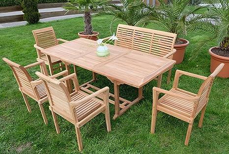 Edle teca XXL jardín jardín Set Asiento Grupo Muebles de ...