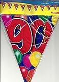 Festoon 90a 10m Aniversario Cumpleaños Bunting