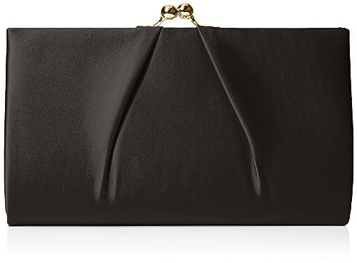 Swanky Swans - Mira Satin Classic Frame Bag, Carteras de mano Mujer, Black,
