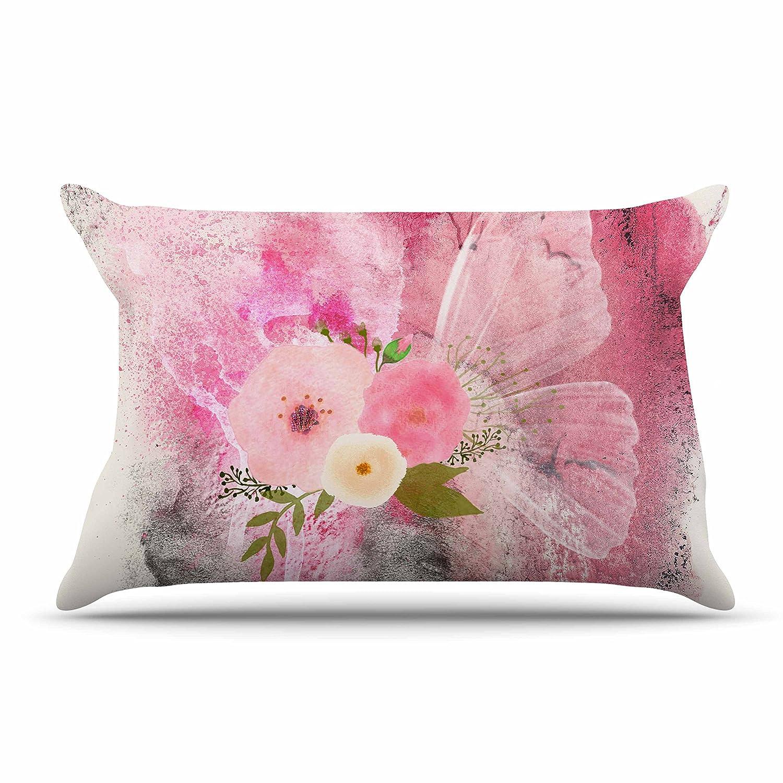 30 x 20 Pillow Sham 30 x 20 Pillow Sham LZ1061ACS01 Kess InHouse Li Zamperini My Butterfly Multicolor Pink Watercolor