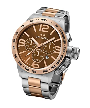 afdade684ce Image Unavailable. Image not available for. Color  TW Steel Men s Canteen  Quartz Watch With Chronograph ...
