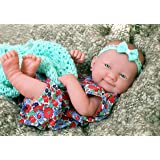 "my Beautiful baby girl doll smiling preemie Berenguer Newborn Doll outfit vinyl 14"" inches realistic washable with pacifier perfect gift"