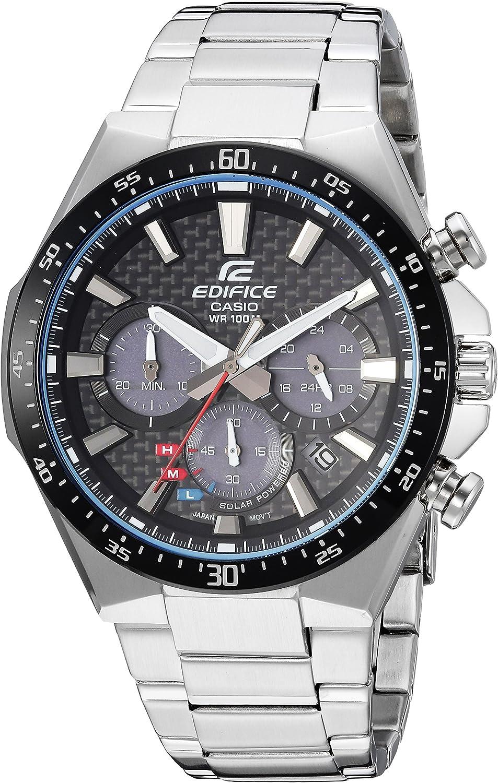 Casio Men s Edifice Quartz Watch with Stainless-Steel Strap, Silver, 20 Model EQS-800CDB-1AVCF