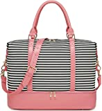 BLUBOON Weekender Bag Women Ladies Overnight Carry-on Tote Canvas Travel Duffle Bag with Shoe Compartment in Trolly…