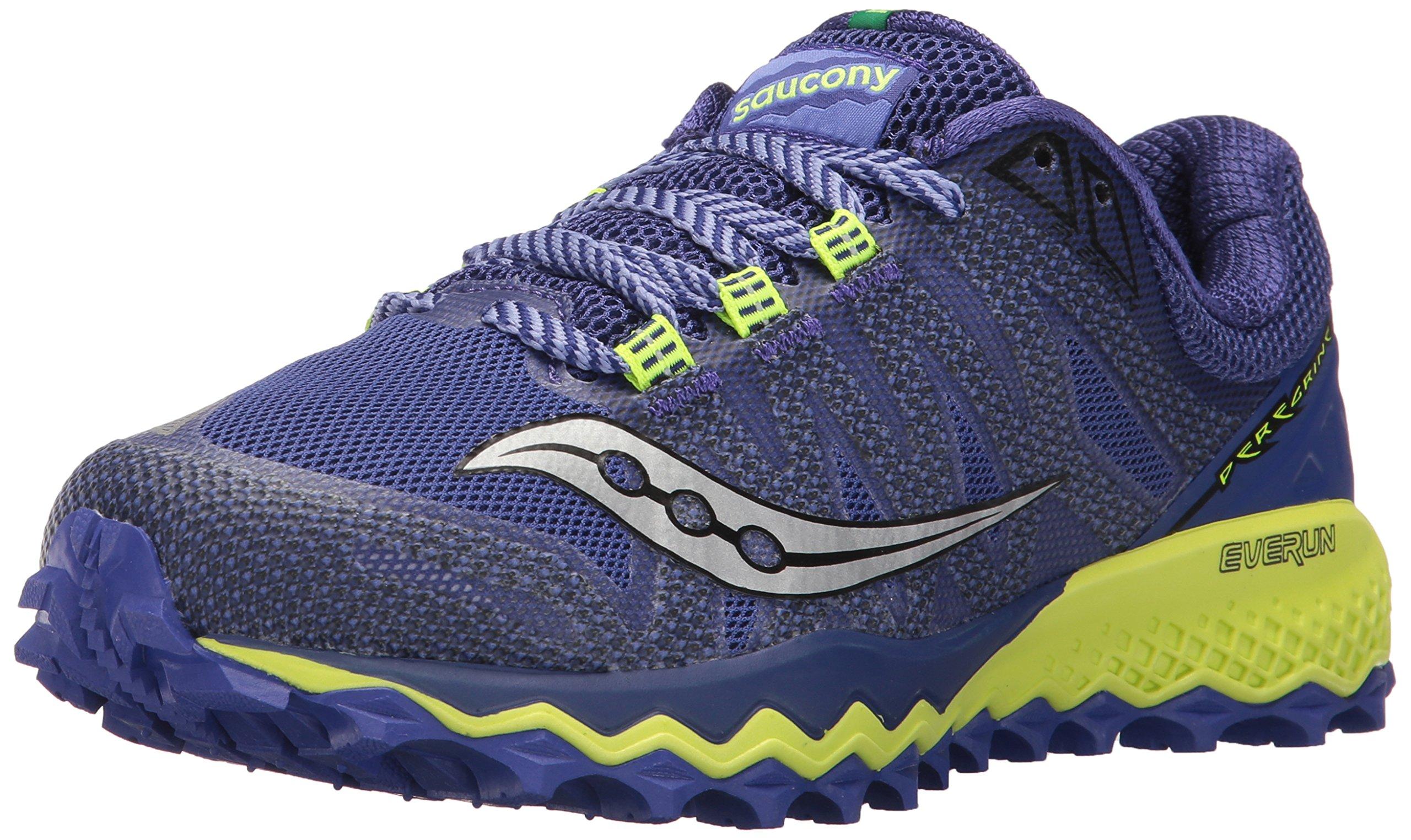 Saucony Women's Peregrine 7 Running Shoe, Blue Citron, 7 Medium US