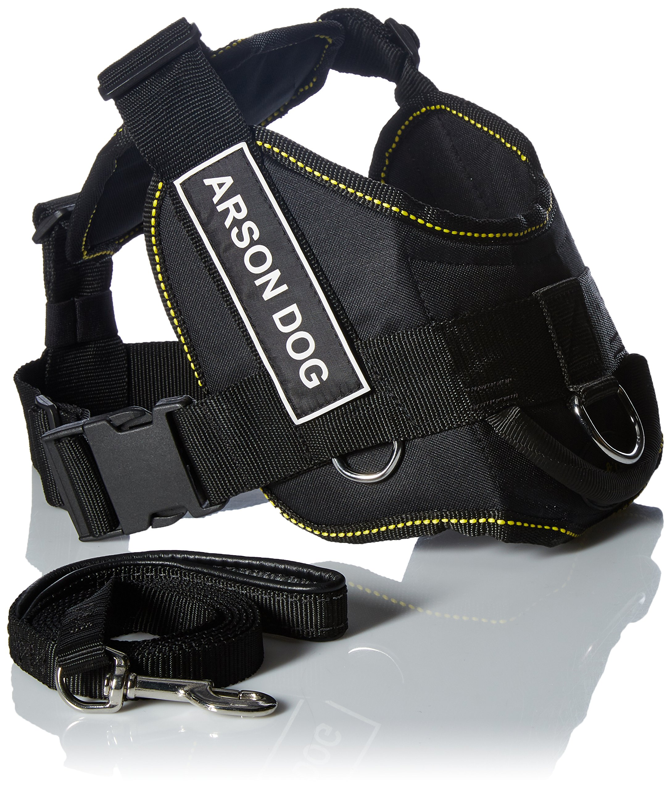 Dean & Tyler's DT Fun Chest Support ''ARSON DOG'' Harness, Medium, with 6 ft Padded Puppy Leash. by Dean & Tyler (Image #1)
