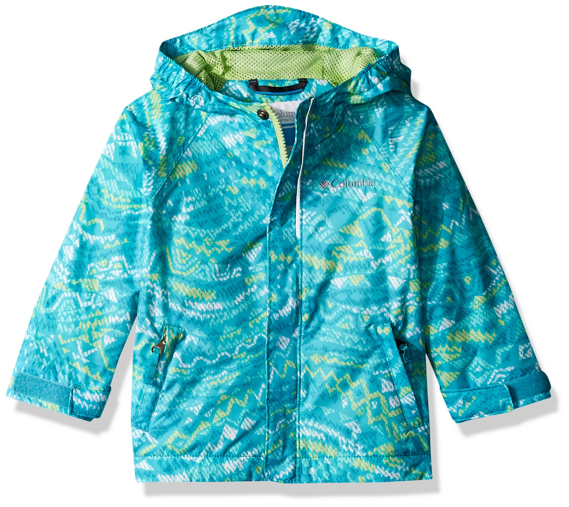 Columbia Kids' Toddler Fast and Curious Rain Jacket, Geyser Wave, 4T by Columbia