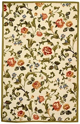 Safavieh Chelsea Collection HK310A Hand-Hooked Ivory Premium Wool Area Rug 2 6 x 4