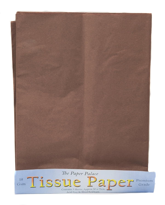The Paper Palace Il palazzo di carta, di carta velina, colore: marrone, 51 x 76 cm, confezione da 5 fogli House of Handicrafts 175 33