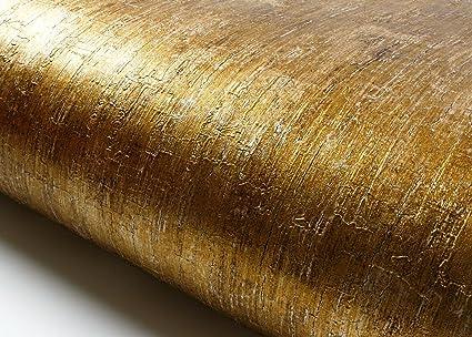 ROSEROSA Peel Stick Lime Gold Pearl Contact Paper Self Adhesive Wallpaper Shelf Liner Table Door