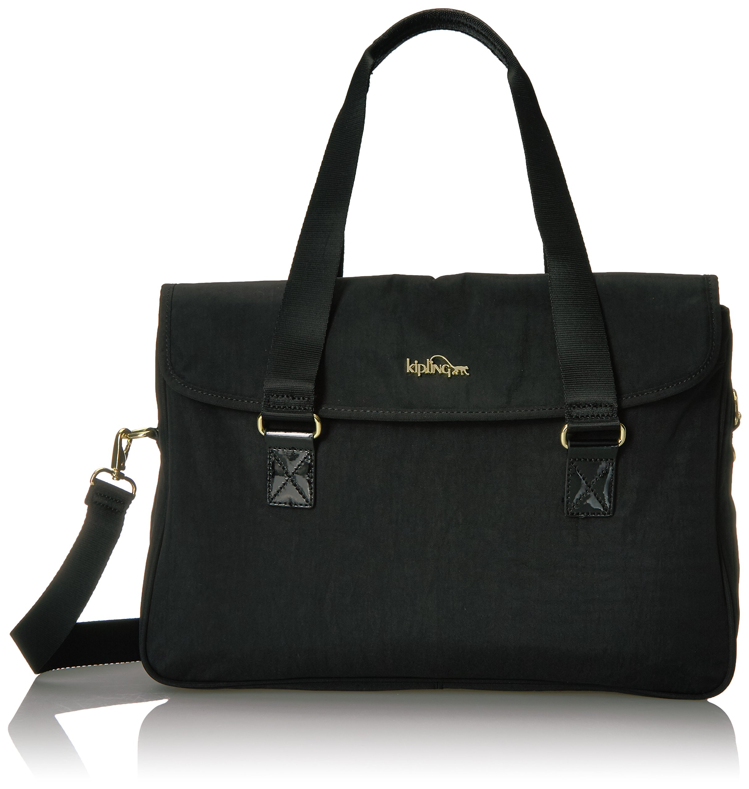 SUPER WORK SATCHEL Shoulder Bag, BLACK PATENT COMBO, One Size