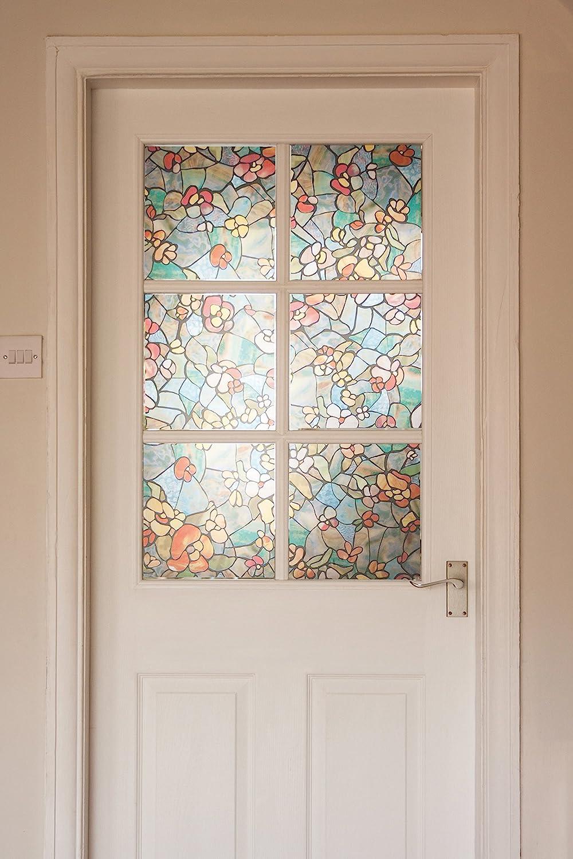 17.71 x 78 Roll 17 x 78 d-c-fix Venetian Garden DC Fix 346-0431 Decorative Self-Adhesive Window Film