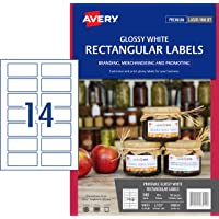 Avery Glossy Rectangle Labels, 80 x 35 mm, 140 Labels (980014 / L7123)