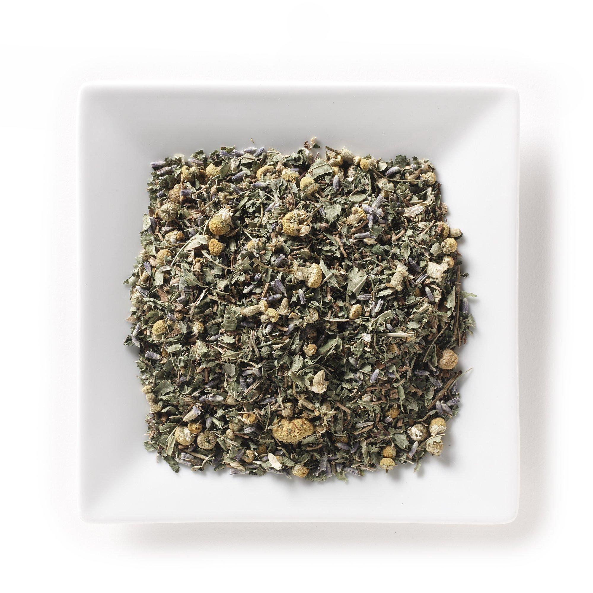 Mahamosa Herbal Herb Tea Blend and Tea Infuser Set: 4 oz Pacific Calm Organic Herbal Tea, 1 Stainless Steel Tea Ball Infuser (Bundle- 2 items)(Tea ingredients: Organic valerian root, organic lemon verbena, organic lemon blalm, organic chamomile, organic l
