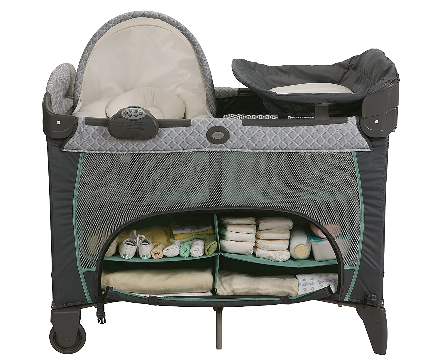 Amazon.com : Graco Pack 'N Play Playard with Newborn Napperstation DLX,  Manor : Baby