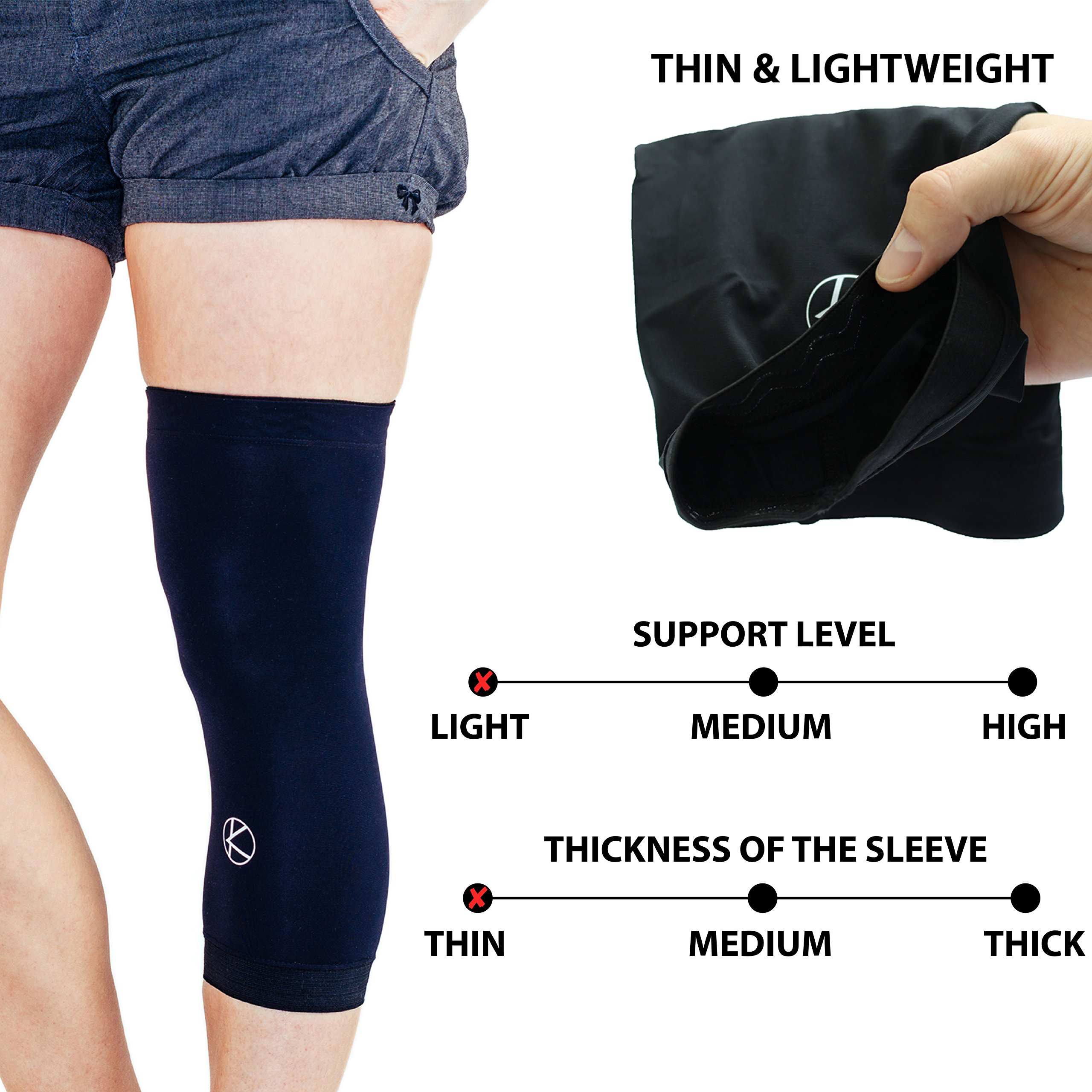 Copper Knee Sleeve Recovery - GUARANTEED LIGHT Support for Arthritis, Running, Basketball, Joint Pain Relief, Muscles, Injury - NON SLIP Lite Compression Copper Knee Brace for Women, Men, Kids (Small)