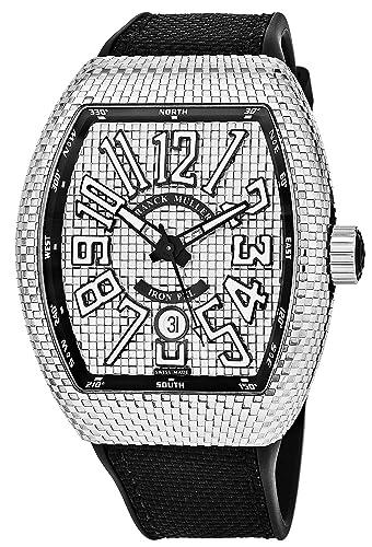 Franck Muller Vanguard Iron PXL - Reloj automático para hombre, diseño de Tonneau, con manecillas luminosas, ...