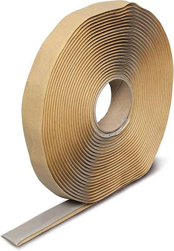 "Dicor BT-1834-5 Butyl Seal Tape – 1/8"" x ¾"" x 30' – 5 Pack"