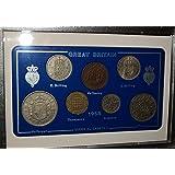 1958 GB Great Britain British Coin Birth Year Vintage Retro Gift Set (60th Birthday Present or Diamond Wedding Anniversary)