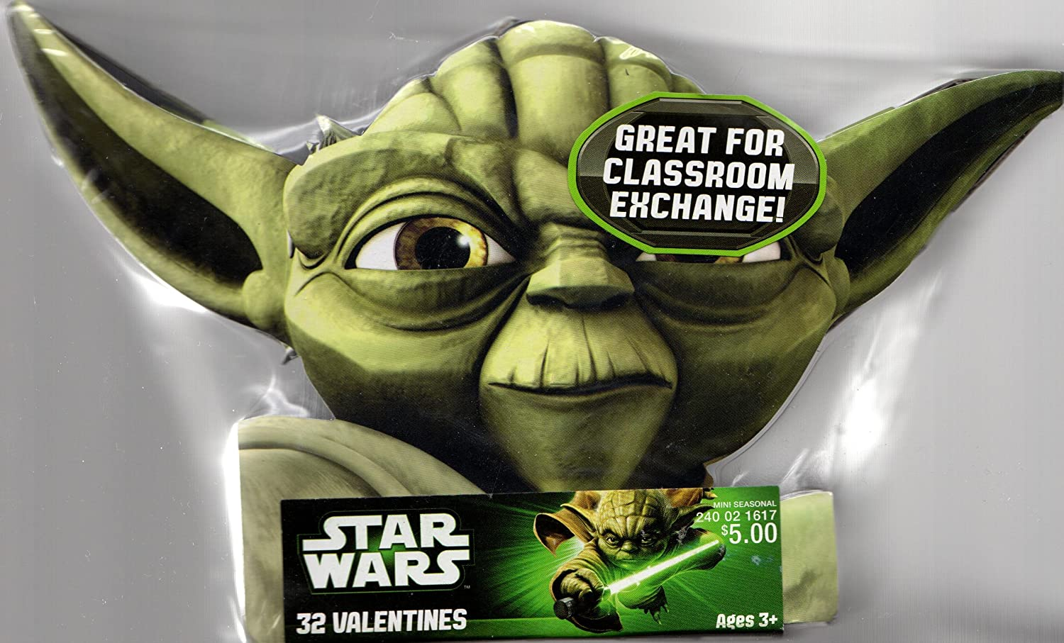 Amazon.com : Star Wars Yoda Valentine Cards For Kids (84309120) : Greeting  Cards : Office Products