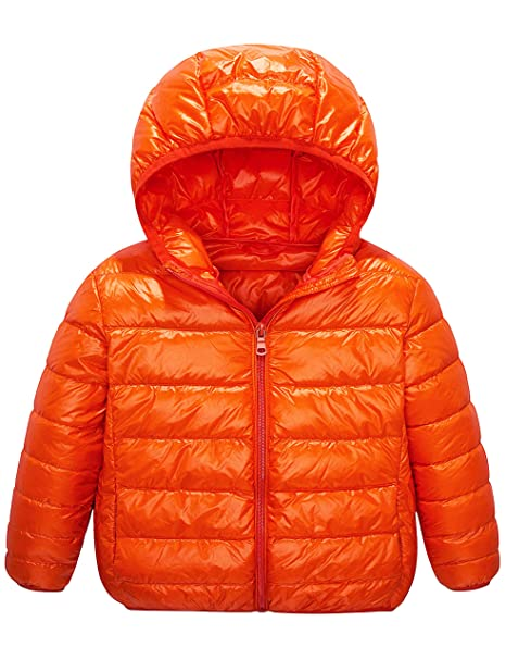 feed3ae2b164 Amazon.com  IKALI Boy Girl Packable Down Jackets