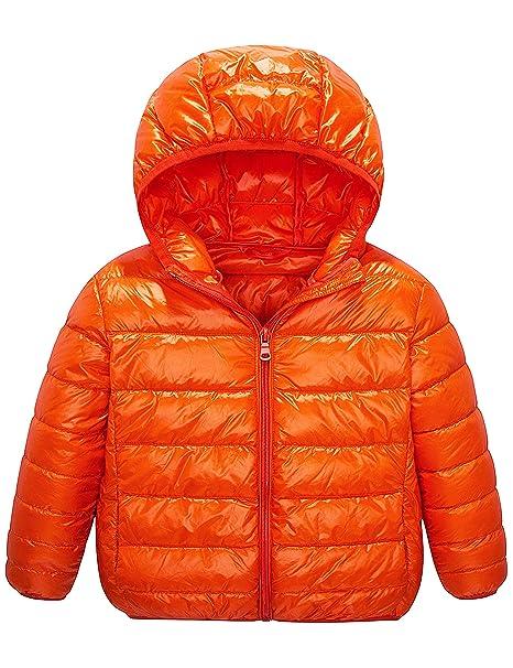 f6f6b0678 Amazon.com  IKALI Boy Girl Packable Down Jackets