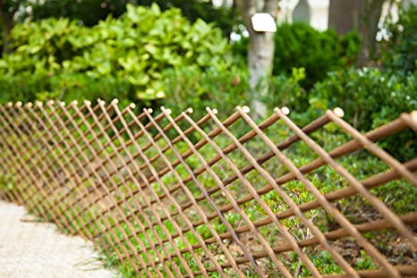 FASHION GARDEN Willow Expandable Fence 39x78 INCH