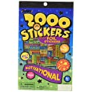 Eureka Back to School Classroom Supplies Assorted Foil Motivational Sticker Book, 2000 pcs