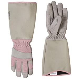 AmazonBasics Rose Pruning Thorn Proof Gardening Gloves with Forearm Protection - Pink, XS