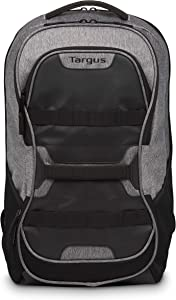 Targus Large Commuter Work and Play Large Gym Fitness Backpack with Protective Sleeve for 15.6-Inch Laptop, Black/Gray (TSB944US)