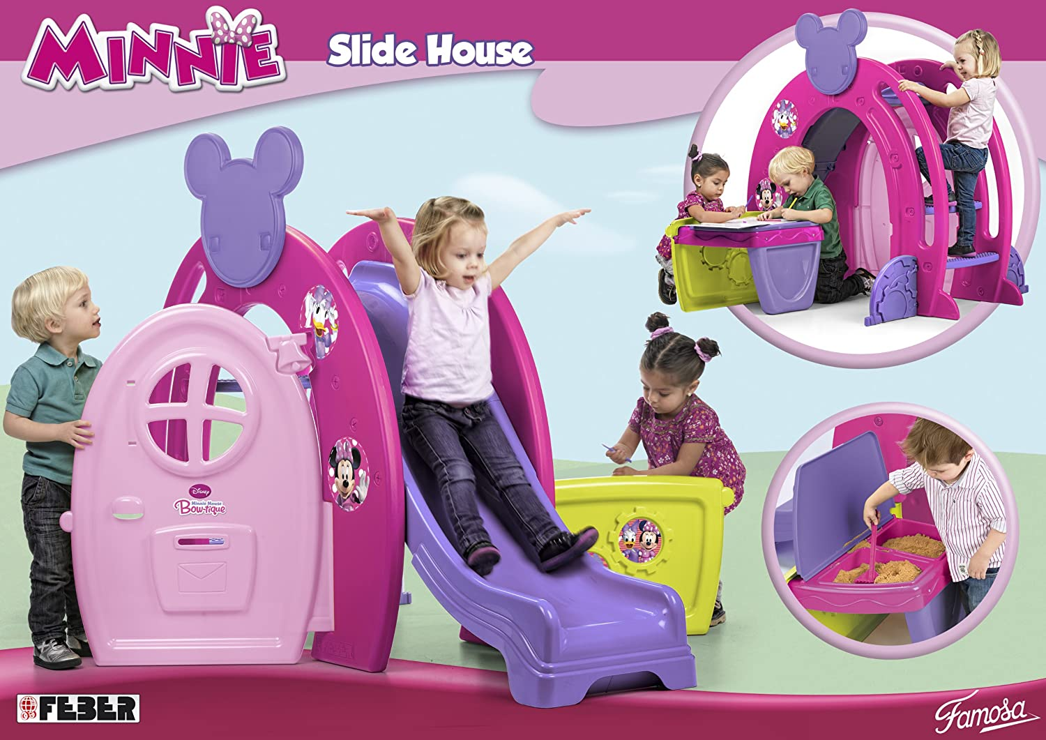 Minnie Bowtique Slide House: Amazon.co.uk: Toys & Games