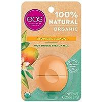eos USDA Organic Lip Balm - Tropical Mango | Lip Care to Moisturize Dry Lips | 100%...