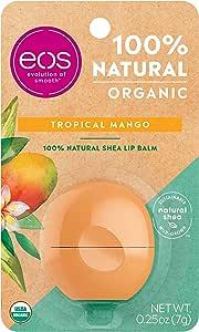 EOS Organic Lip Balm Sphere - Tropical Mango   Certified Organic & 100% Natural   0.25 oz.