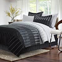 Ombre Stripe Grey 8-Piece Bed-in-Bag
