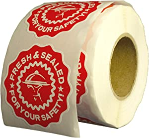 500 Food Delivery Tamper Evident Safety Stickers - Fresh & Sealed for Your Safety