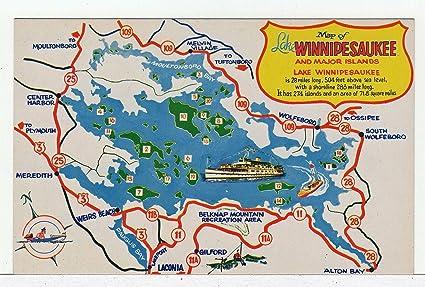 winnepasaukee postcards lake Vintage