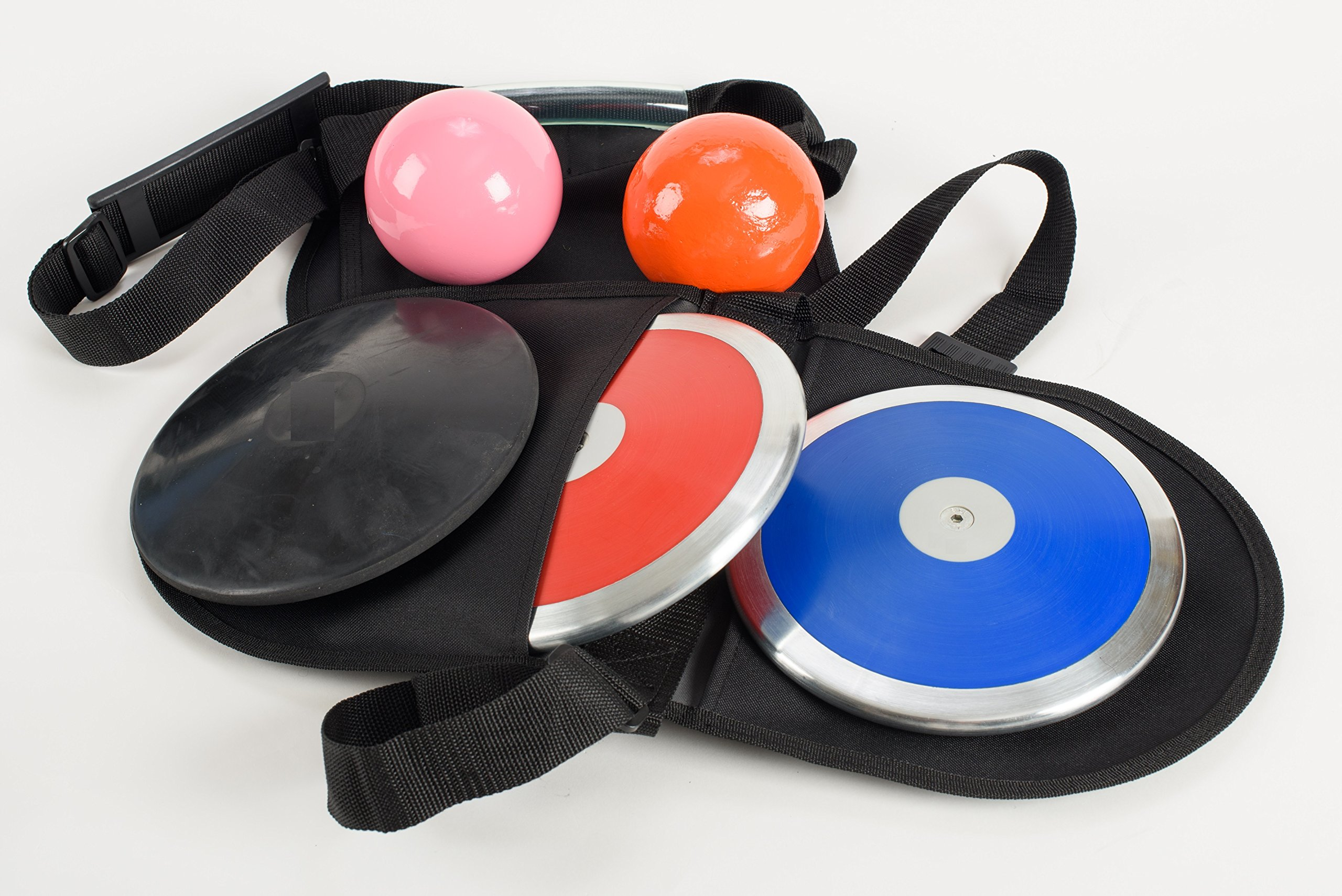 High School Ladies discus and shot put throws package. Beginner to intermediate skilled implement throwers value pack. Quality backed 3 year warranty.