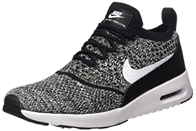 378dc63a0a Nike Women's Air Max Thea Ultra Flyknit Trainers, Black/White, 3 UK 36