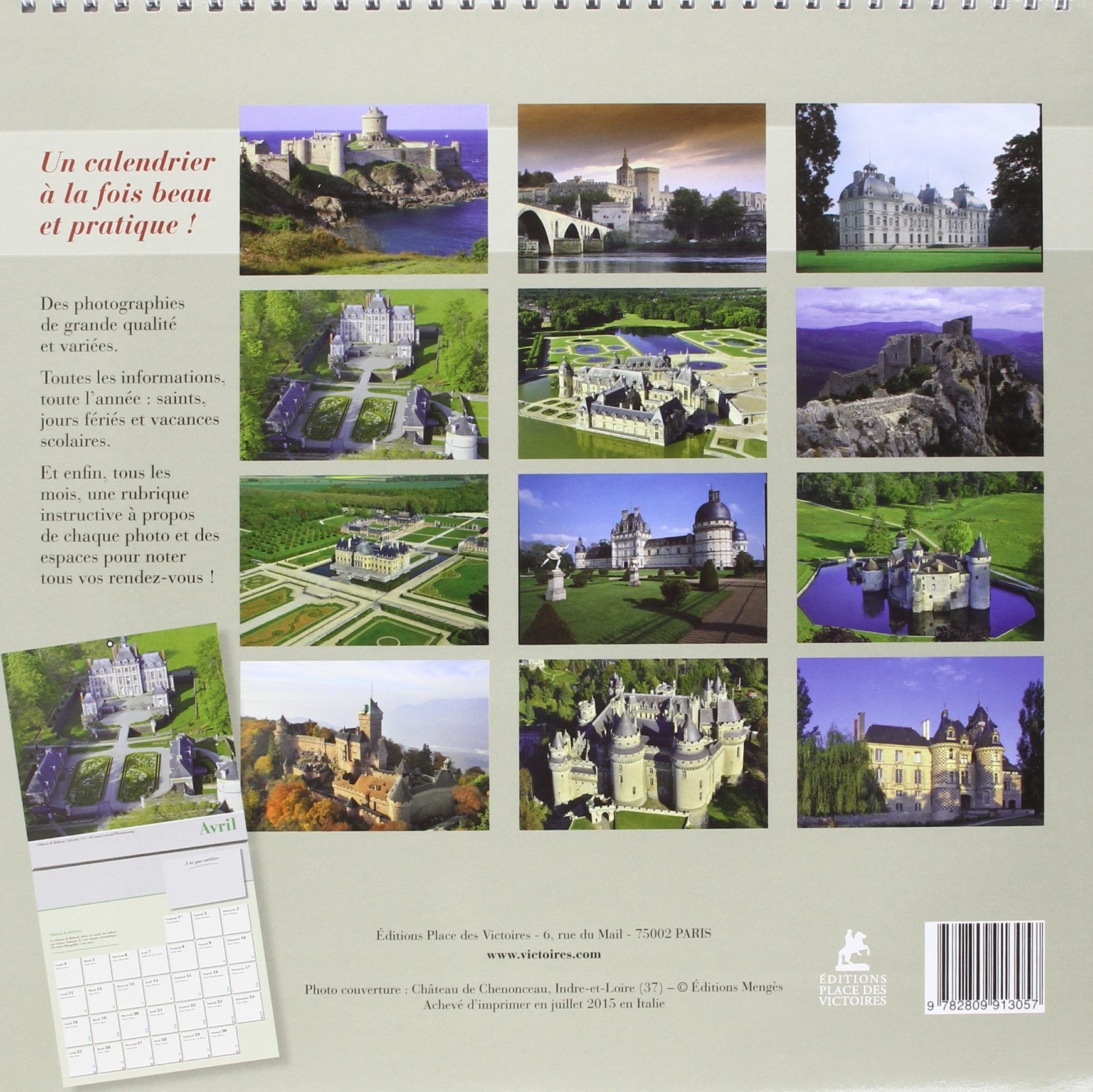 Impressionnant Editions Place Des Victoires #6: CHATEAUX DE FRANCE CALENDRIER 2016 [ Castles Of France Calendar ] (French  Edition): Collectif, Place Des Victoires: 9782809913057: Amazon.com: Books