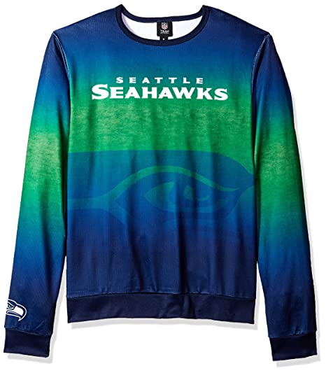 a2bcf44ba Image Unavailable. Image not available for. Color  Seattle Seahawks Printed  Gradient Crew Neck Sweater - Mens ...