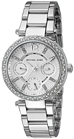 6316a2d80e3d Amazon.com  Michael Kors Women s Mini Parker Silver-Tone Watch ...