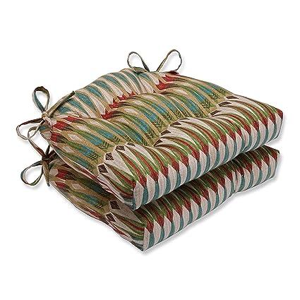 amazon com pillow perfect acela adobe reversible chair pad set of